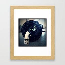 Neil's mirror Framed Art Print