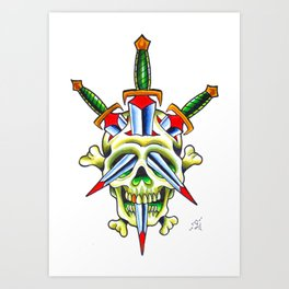 Skull & Dagger Art Print