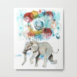The flying elephant Metal Print