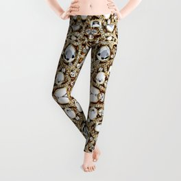 jewelry gemstone silver champagne gold crystal Leggings