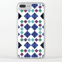 Stars Diamonds Clear iPhone Case