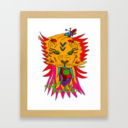wizard lion Framed Art Print