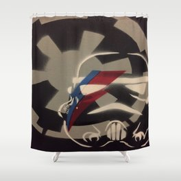 Trooper in Space Shower Curtain