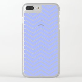 Fat Thin Chevrons Dove BLUE Clear iPhone Case