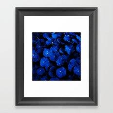 blue leafs XIV Framed Art Print