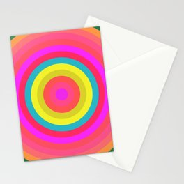 Pink Radial Stationery Cards