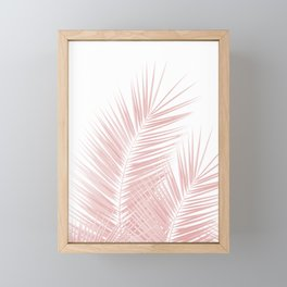 Blush Pink Palm Leaves Dream - Cali Summer Vibes #1 #tropical #decor #art #society6 Framed Mini Art Print