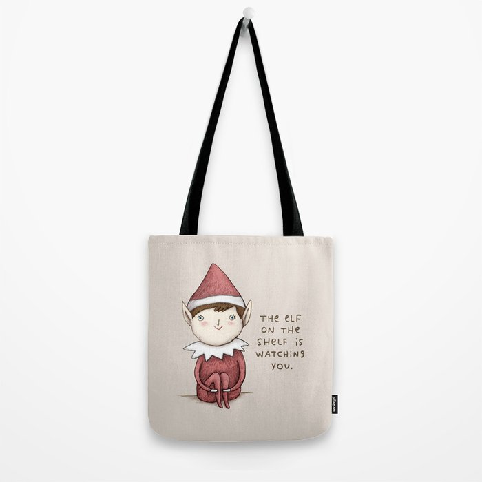 The Elf on The Shelf Tote Bag