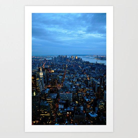 The City That Never Sleeps - NYC Art Print