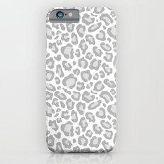 Grey Leopard Print iPhone 6 Slim Case