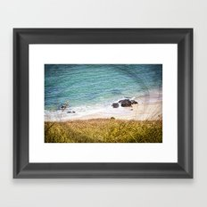 Rocks and Ocean View Framed Art Print