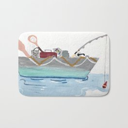 Fishing Boat Bath Mat