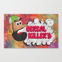 studio killers Canvas Prints featuring Cereal Killers by Roots