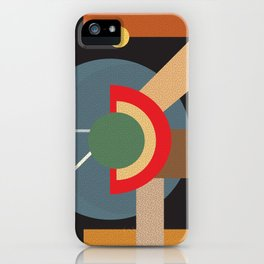 Abstract geometric composition study- clocks iPhone Case