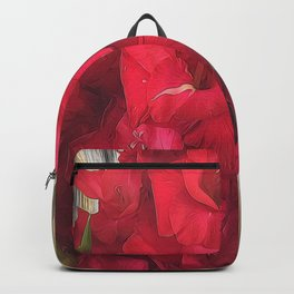 Red Gladiolas Backpack