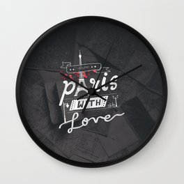 From Paris With Love | Typographic Wall Clock