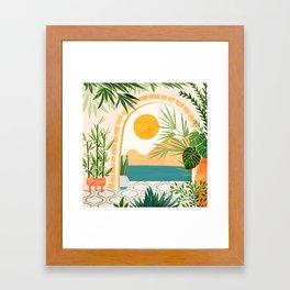 Villa View / Tropical Landscape Framed Art Print