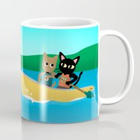 rowing Mugs featuring Rowing by BATKEI