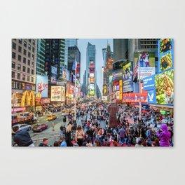 Times Square Tourists Canvas Print