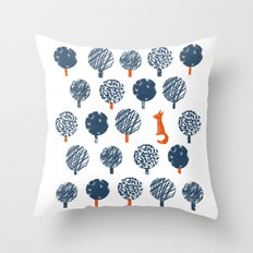 Lost in the Woods ( a Fox adventure) Throw Pillow