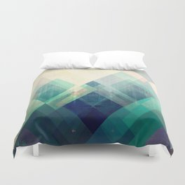 Mountains print, Abstract print, geometric wall art, abstract mountain, minimalist art, modern art, Duvet Cover