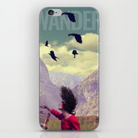 wander iPhone & iPod Skins featuring WANDER by Christel Sayegh