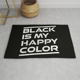 Black Is My Happy Color Rug