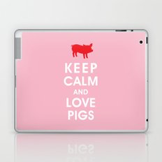 Keep Calm and Love Pigs Laptop & iPad Skin