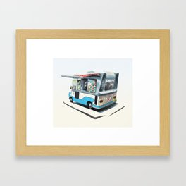 Ice Cream Van. Richmond upon Thames Framed Art Print