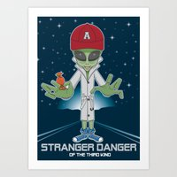 Alien Abduction Art Print