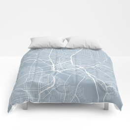 Dallas Map, USA - Slate Comforters