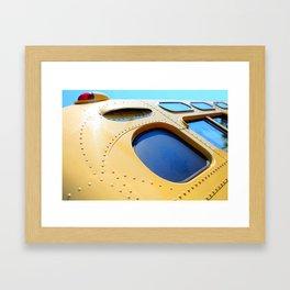 VINTAGE - Cool Vintage Passenger Bus - Yellow Framed Art Print