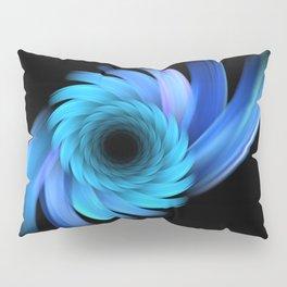 blue flower art fractals vortex design material abstract material Pillow Sham