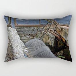 Auto Interior of Abandoned Vehicle Rectangular Pillow