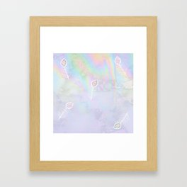 Holographic feather Framed Art Print