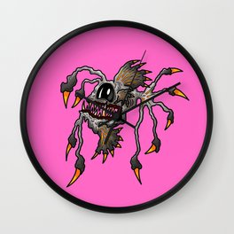 Brutus Angler Spiked Fish in the Pink Wall Clock