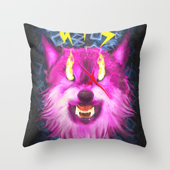 Eye Of The Wolf Throw Pillow