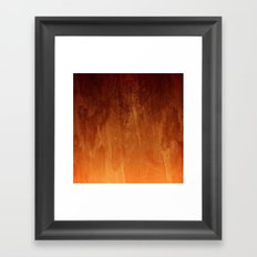 Orange Fire Watercolor Abstract Framed Art Print