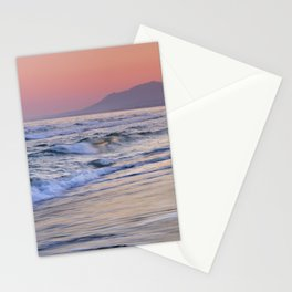 Sunrays Through The Waves. Purple Sunset Marbella. Stationery Cards