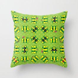 Badger Emojis Throw Pillow