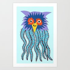 the owl of cthulu Art Print