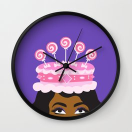 Coronation Cake fit for a Queen Wall Clock