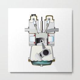 Diesel Induction Stroke Metal Print