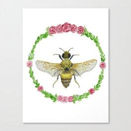 Sweet Honey Bee Canvas Print