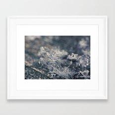 Macro Snowflakes 1 Framed Art Print