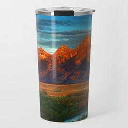 Grand Tetons - Jackson Hole, Wyoming in Autumn Travel Mug