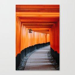 Kyoto Red Gates Canvas Print