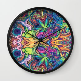 Trippy Weed Wall Clock