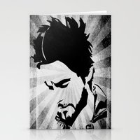 jared leto Stationery Cards featuring Jared Leto by Emma Porter