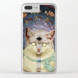 Praise Kitty Clear iPhone Case